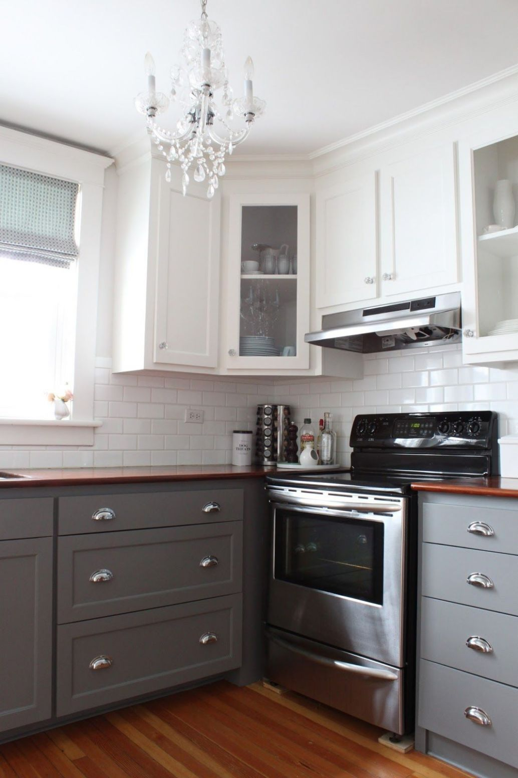 Two-Tone Cabinets Reveal. (With images) | Gray and white kitchen ..
