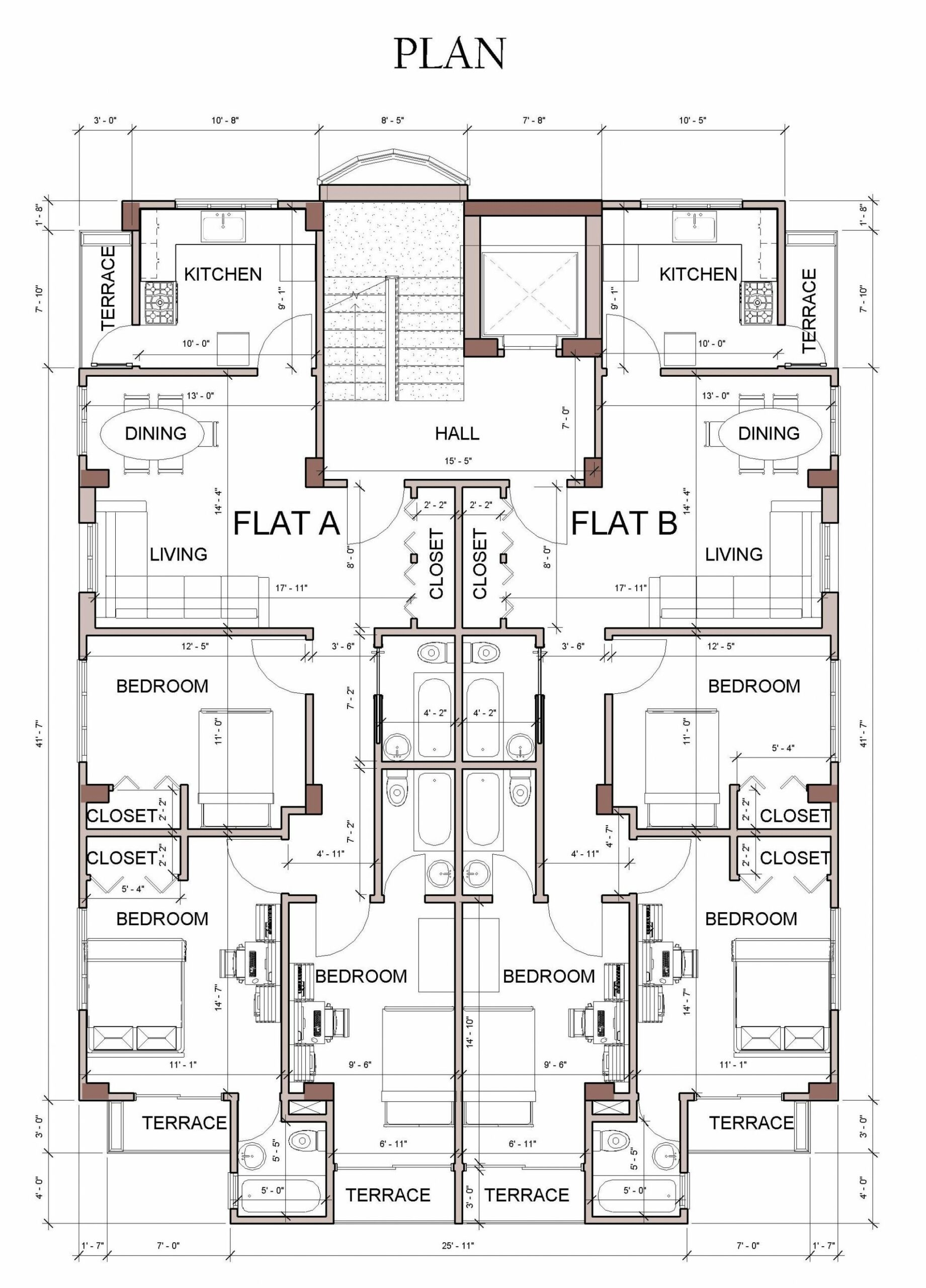 Typical floor plan (With images) | Architectural floor plans ..