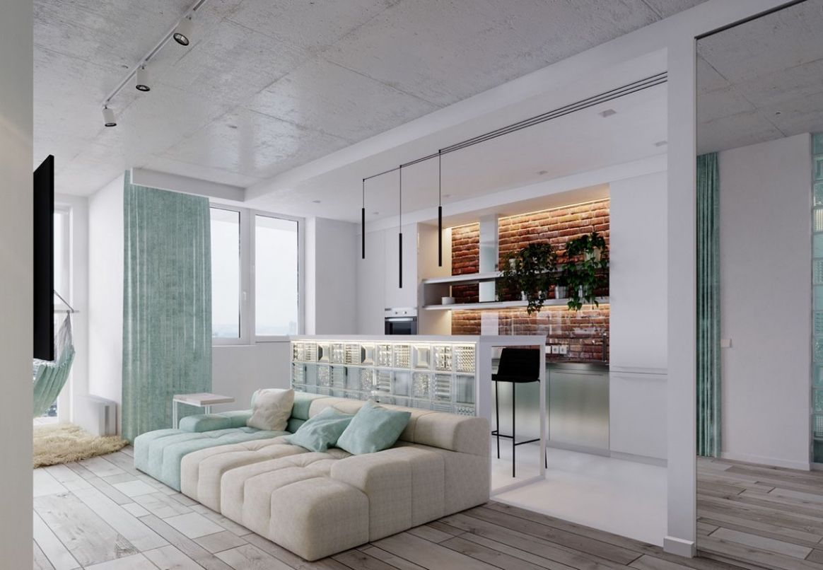 Unique Apartment Design Applied With Charming Style Decor and ...