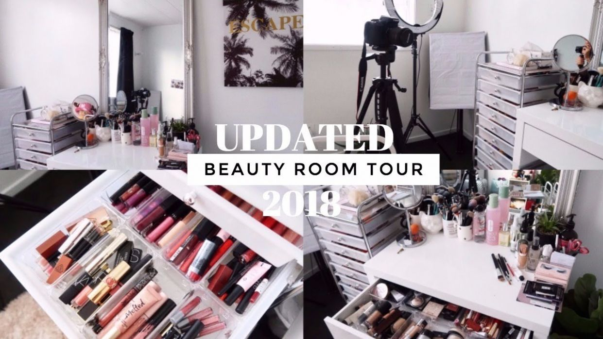 UPDATED BEAUTY ROOM TOUR + MAKEUP COLLECTION • 11 - makeup room tour 2018