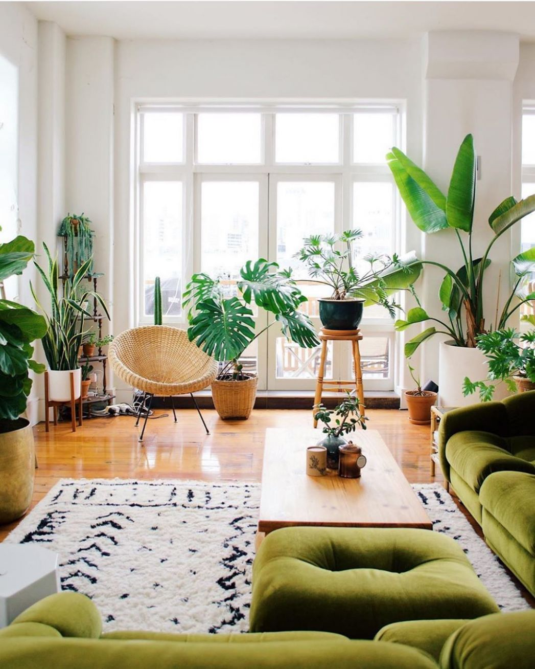 "Urban Jungle Bloggers™ on Instagram: ""Living room goals all the .."