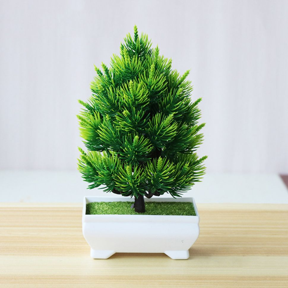 US $11.11 11% OFF|Artificial Pine Tree Bonsai Small Tree Pot Plants Fake  Flowers Potted Ornaments For Home Decoration Hotel Garden Decor|Trees| - ..