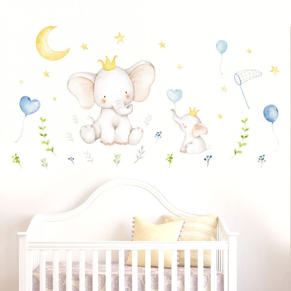 US $11.11 11% OFF|Wall Sticker For Baby Room Cute Animal Elephant Rabbit  Vinyl Wall Decals For Kids Nursery Girls Room Wall Decoration #R11|Wall ...