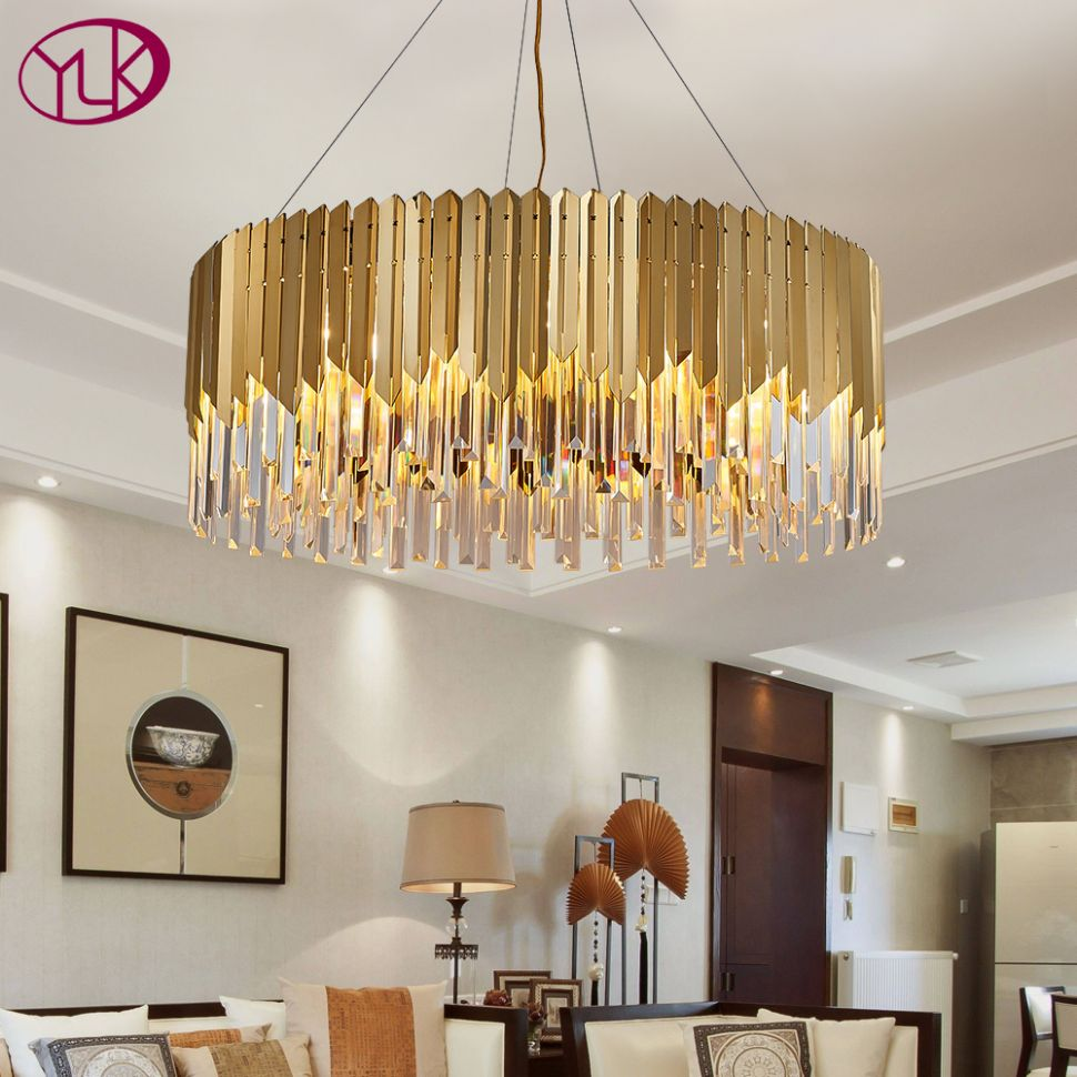 US $12.12 12% OFF|Youlaike Round Chandelier Lighting Luxury Modern Crystal  Light Fixtures Living Room Suspension Cristal Lustre Home Decor ...