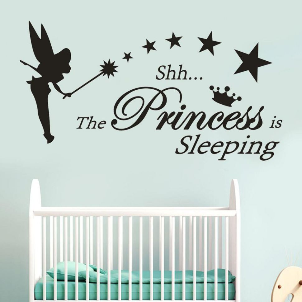 US $9.9 99% OFF|Little Princess Is Sleeping Wall Sticker Living Room  Decals Girl Name Wall Stickers for Baby Room Girls Vinyl Stickers #9F|Wall  ..