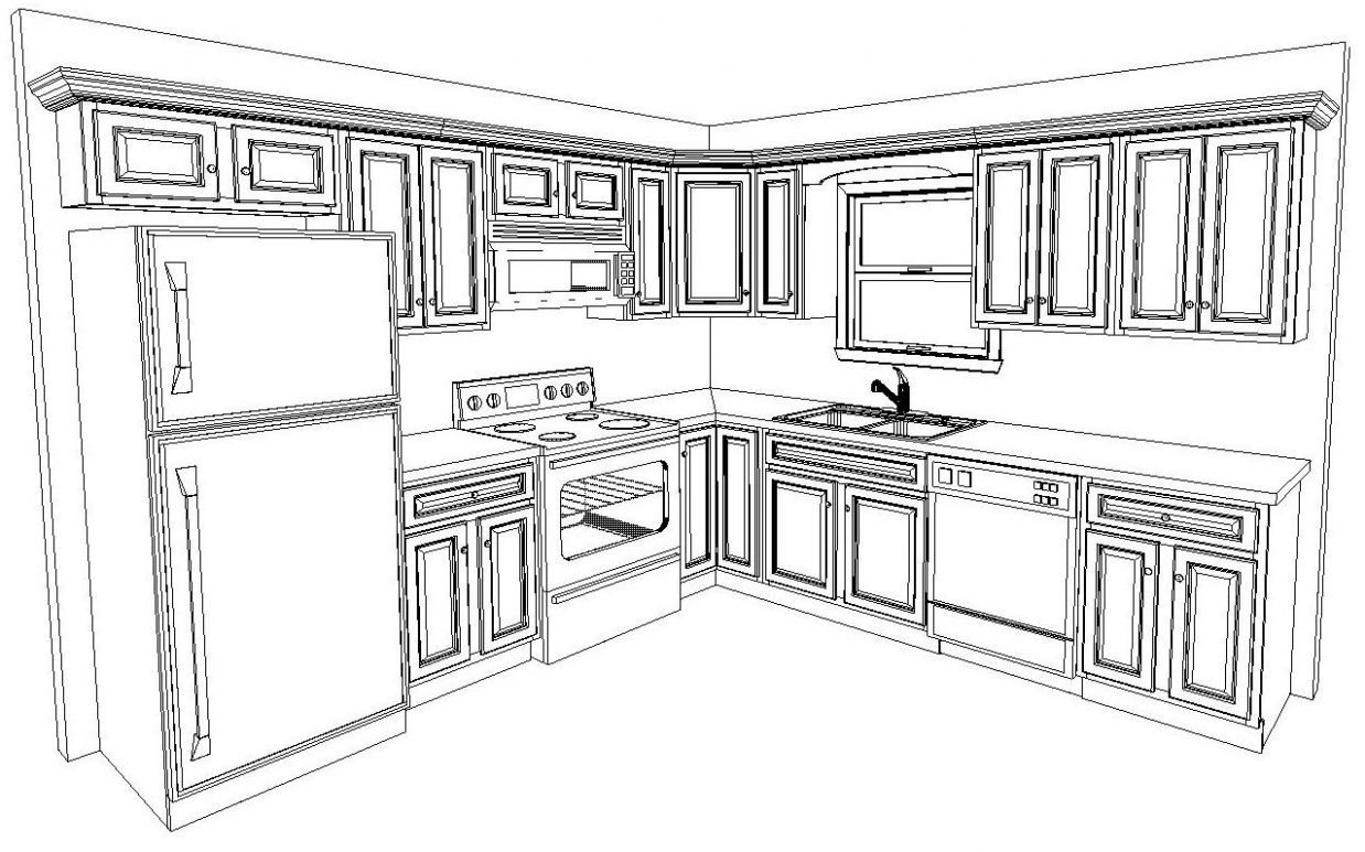 Very Small Kitchen Ideas, Blueprint 11x11 (With images) | Kitchen ..