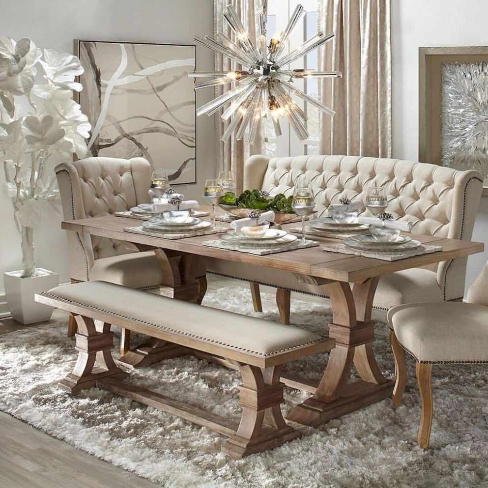 Vintage Dining Table Design Ideas Diy Rooms Shabby – Saltandblues - dining room ideas with glass table