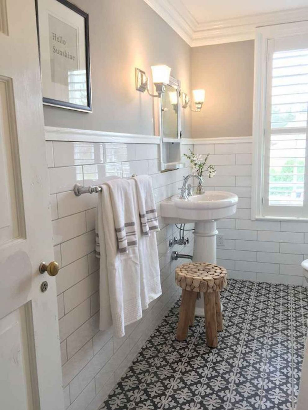 Vintage farmhouse bathroom remodel ideas on a budget (12 ...