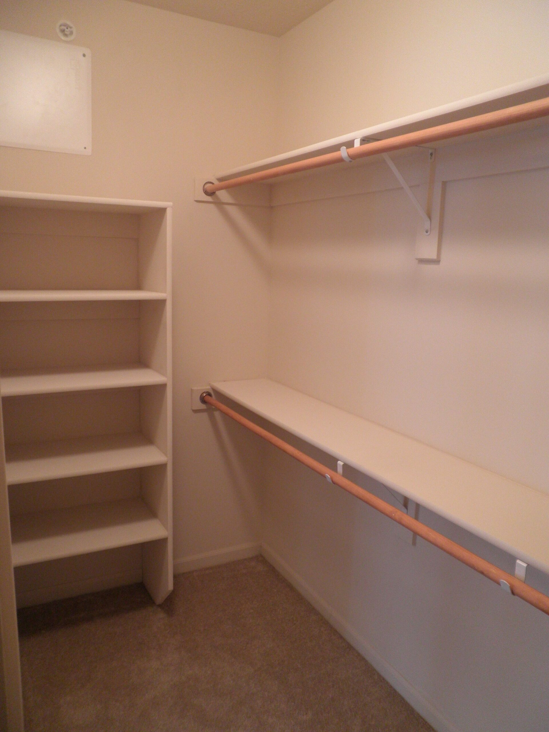 Walk in closet shelving … (With images) | Closet layout ...