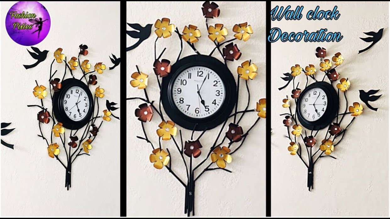 Wall clock decoration | clock decoration ideas | fashion pixies | wall  hanging | wall clock craft - wall decor ideas with clock