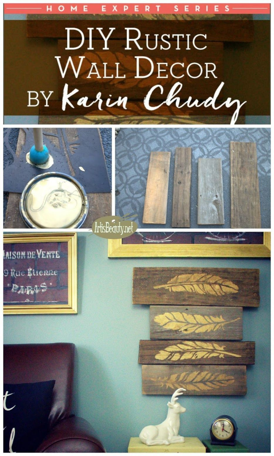 wall decoration ideas in hindi (With images) | Barn wood wall ...