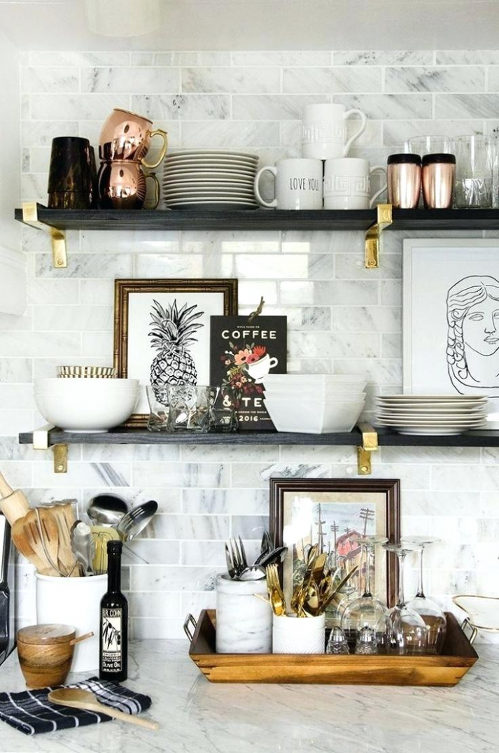 wall shelves decorating ideas kitchen in 9 (With images ..