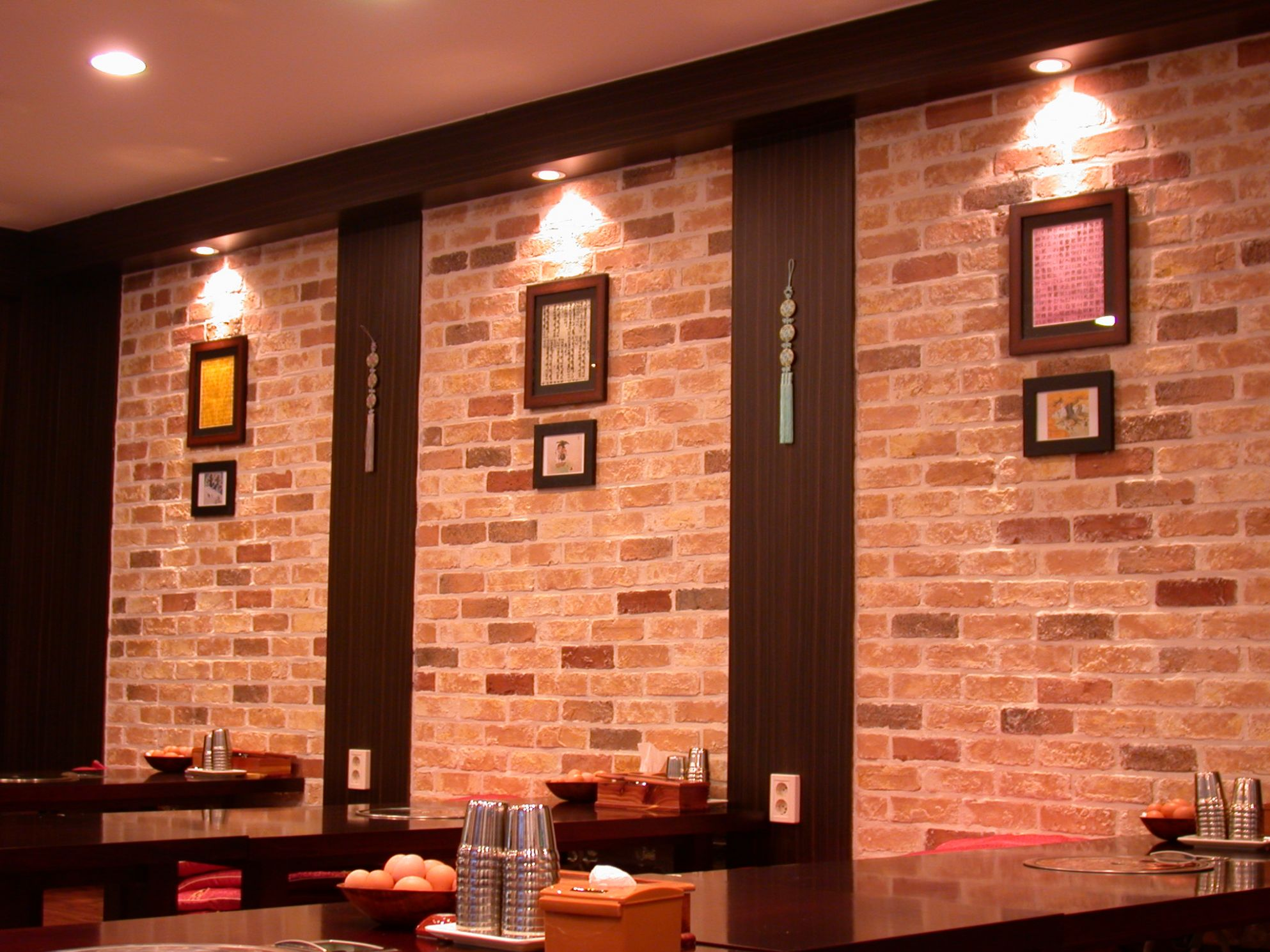wall: Wall Art Restaurant Wall Design