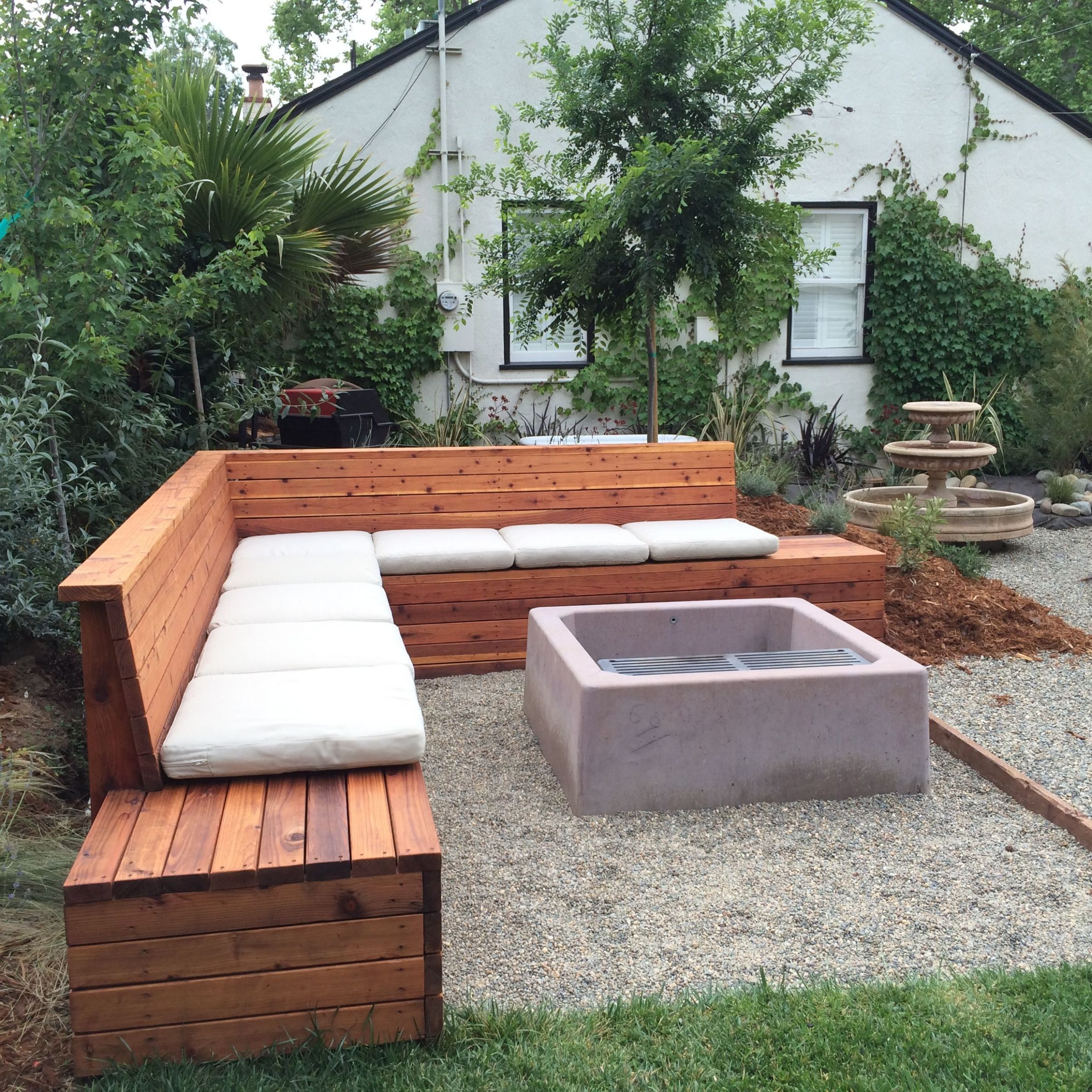 We sealed it then added cushions (With images) | Outdoor seating ..