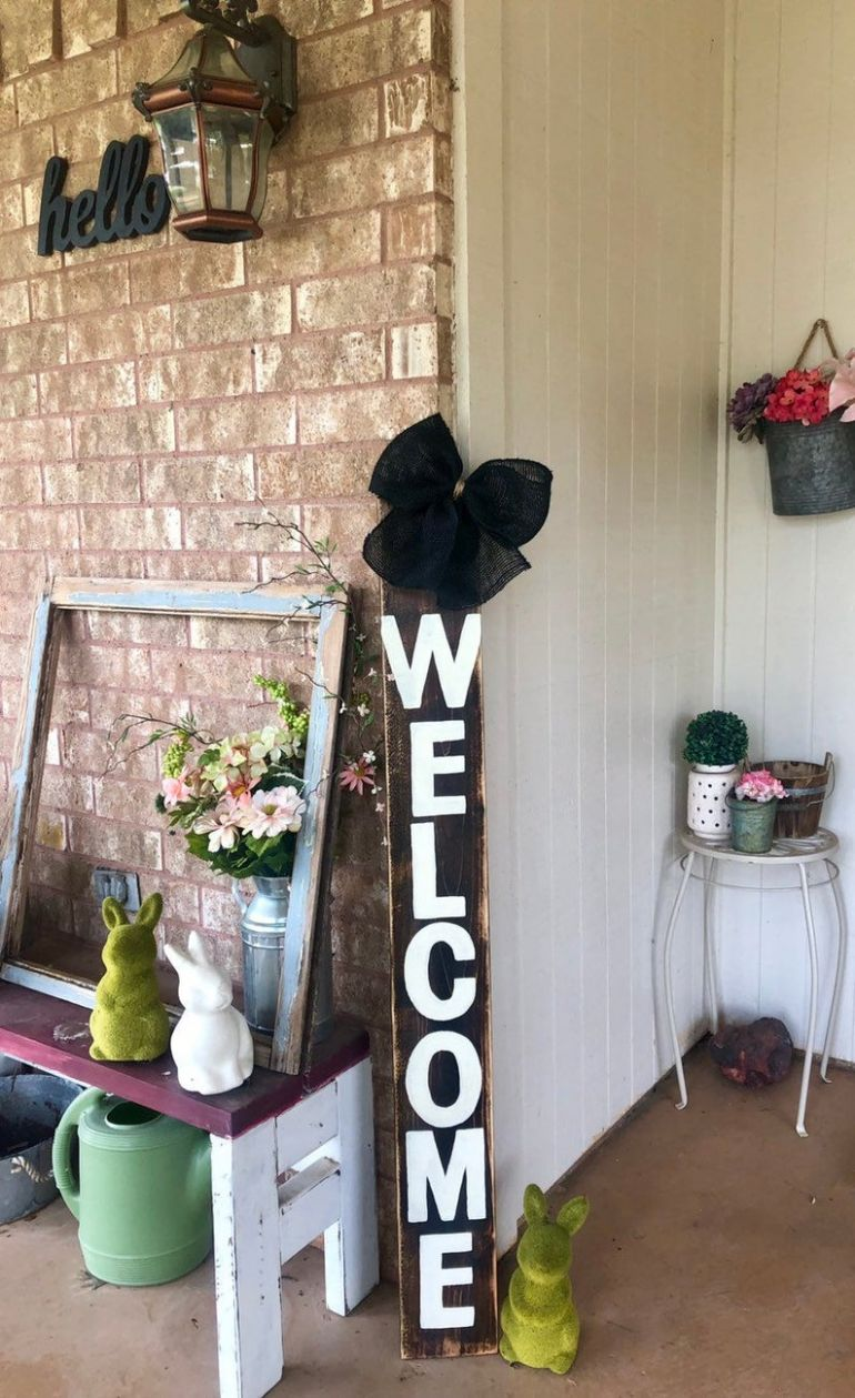Welcome Sign Front Porch Decor
