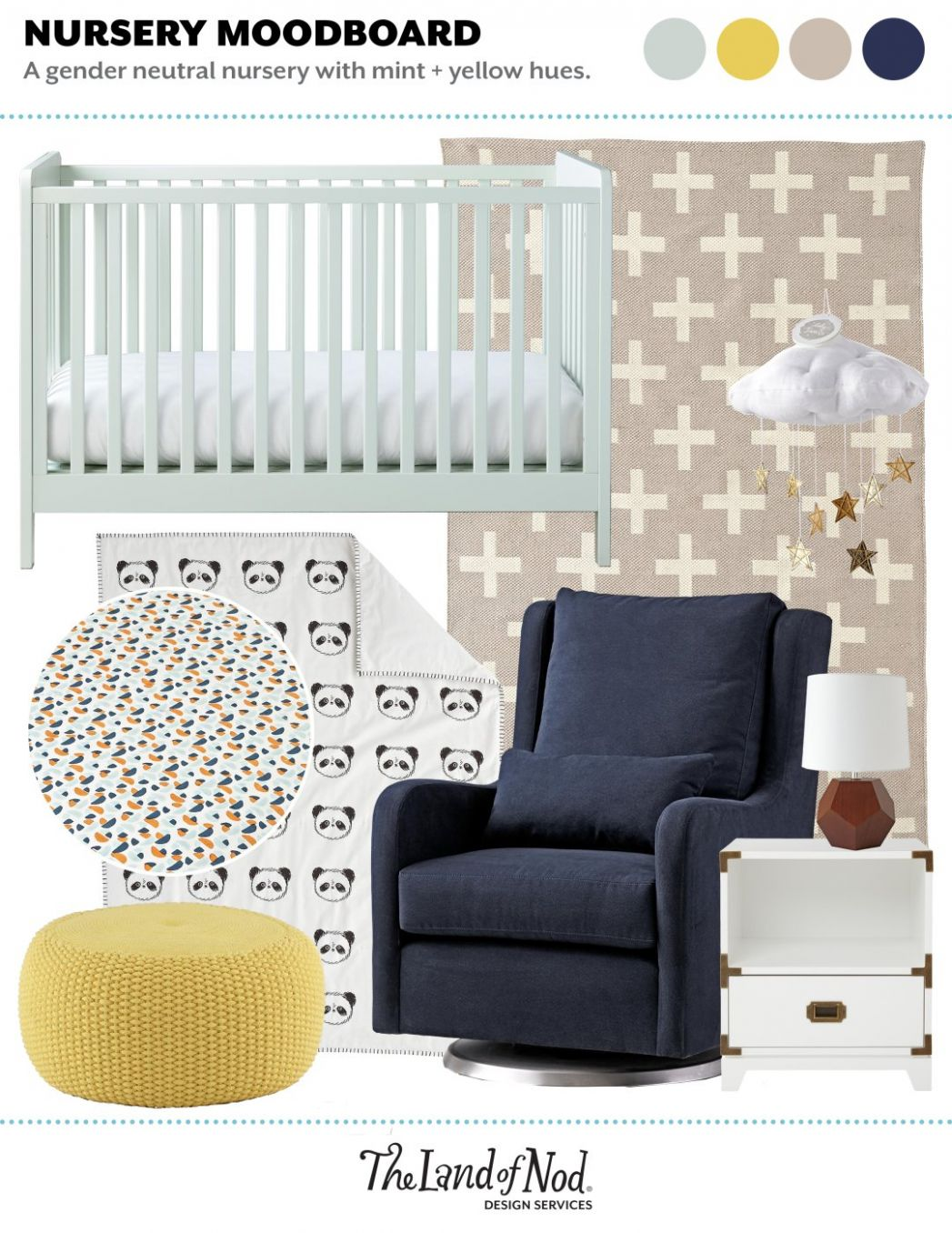 Where to Use a Pouf in a Nursery | Crate&Kids Blog