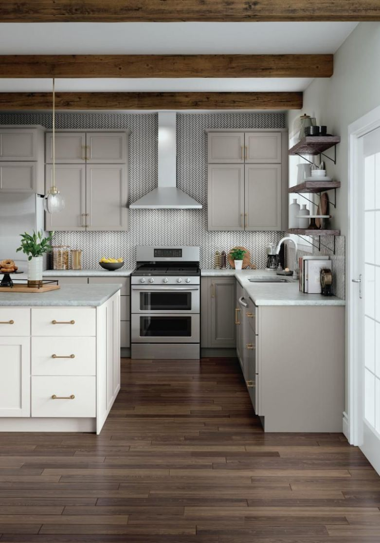 White and #gray #kitchen #cabinetry #ideas and #inspiration at ...