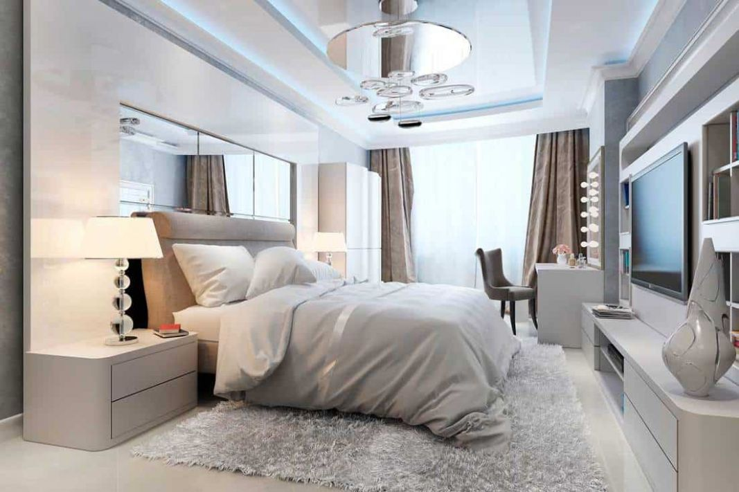 White and Silver Bedroom Decor Ideas - Home Decor Bliss