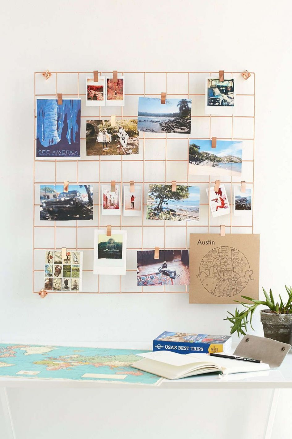 Wire Wall Square Grid (With images)   Room diy, Home decor items ..