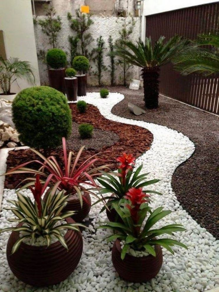 Wonderful Landscaping Ideas With White Pebbles And Stones (With ..