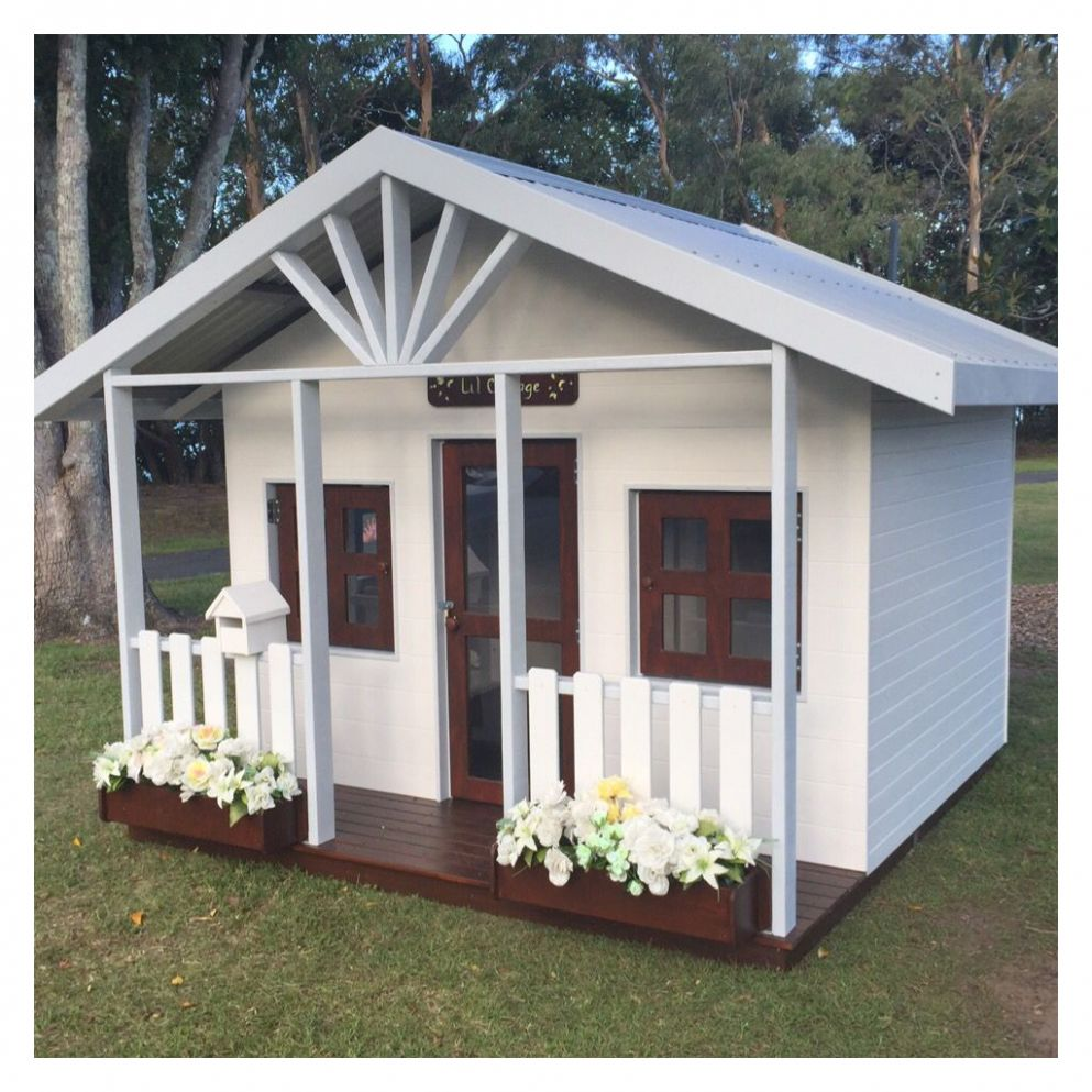 Wooden cubby house Gold Coast | Wooden cubby, Cubby houses ..