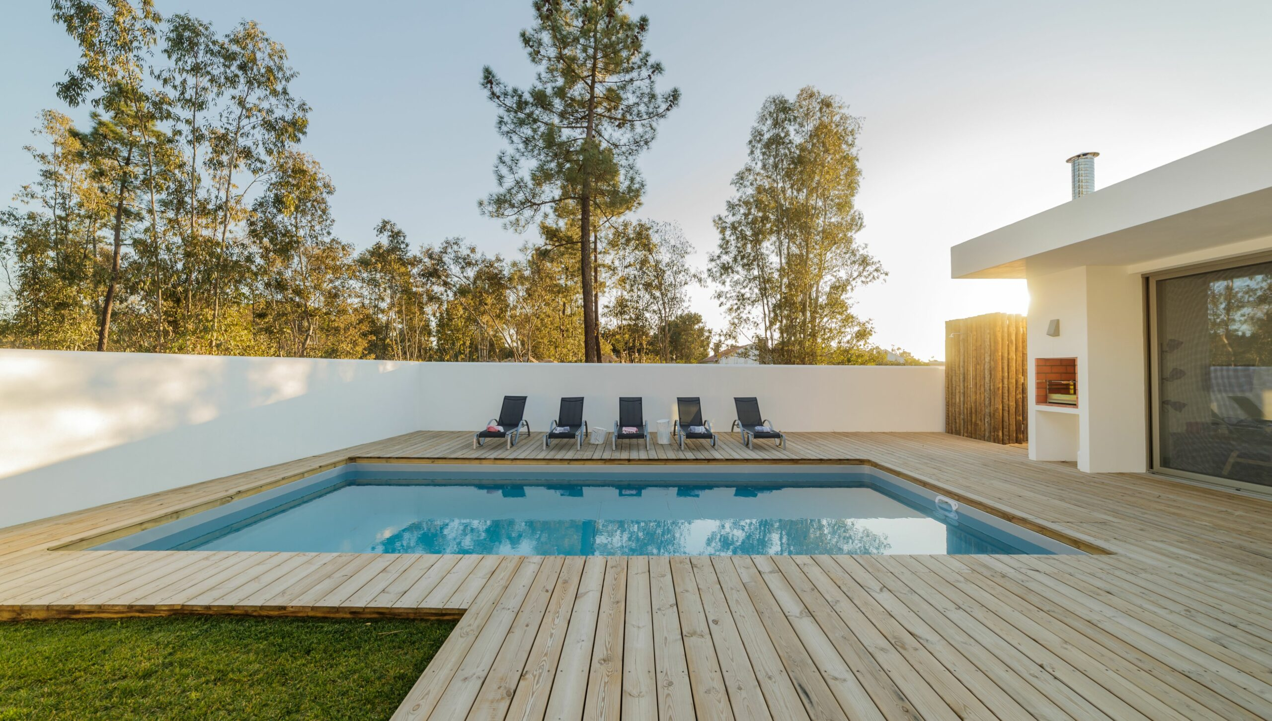 Wooden Decks for Inground Swimming Pools: Cost, Types, and More - pool ideas off deck