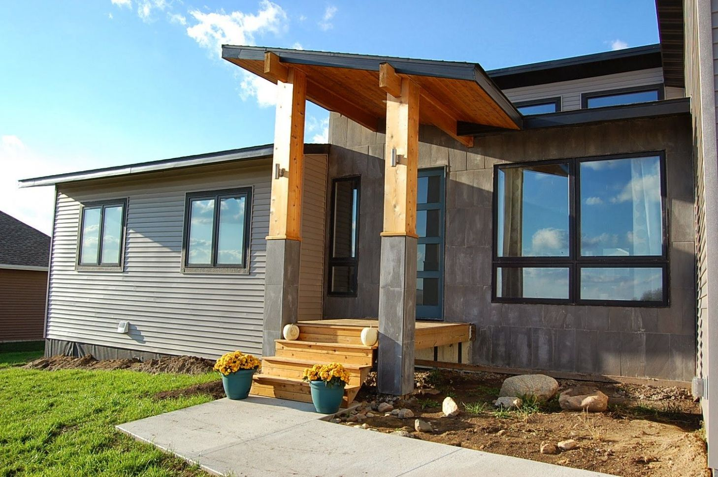 wooden front porch roof designs - Google Search (With images ..