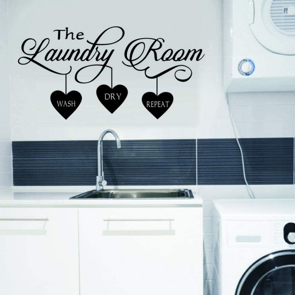 WOVTCP Laundry Wall Decal - Laundry Room Decor - Laundry Room Vinyl Wall  Art - Laundry Vinyl Lettering - Vinyl Wall Quotes - laundry room vinyl decor