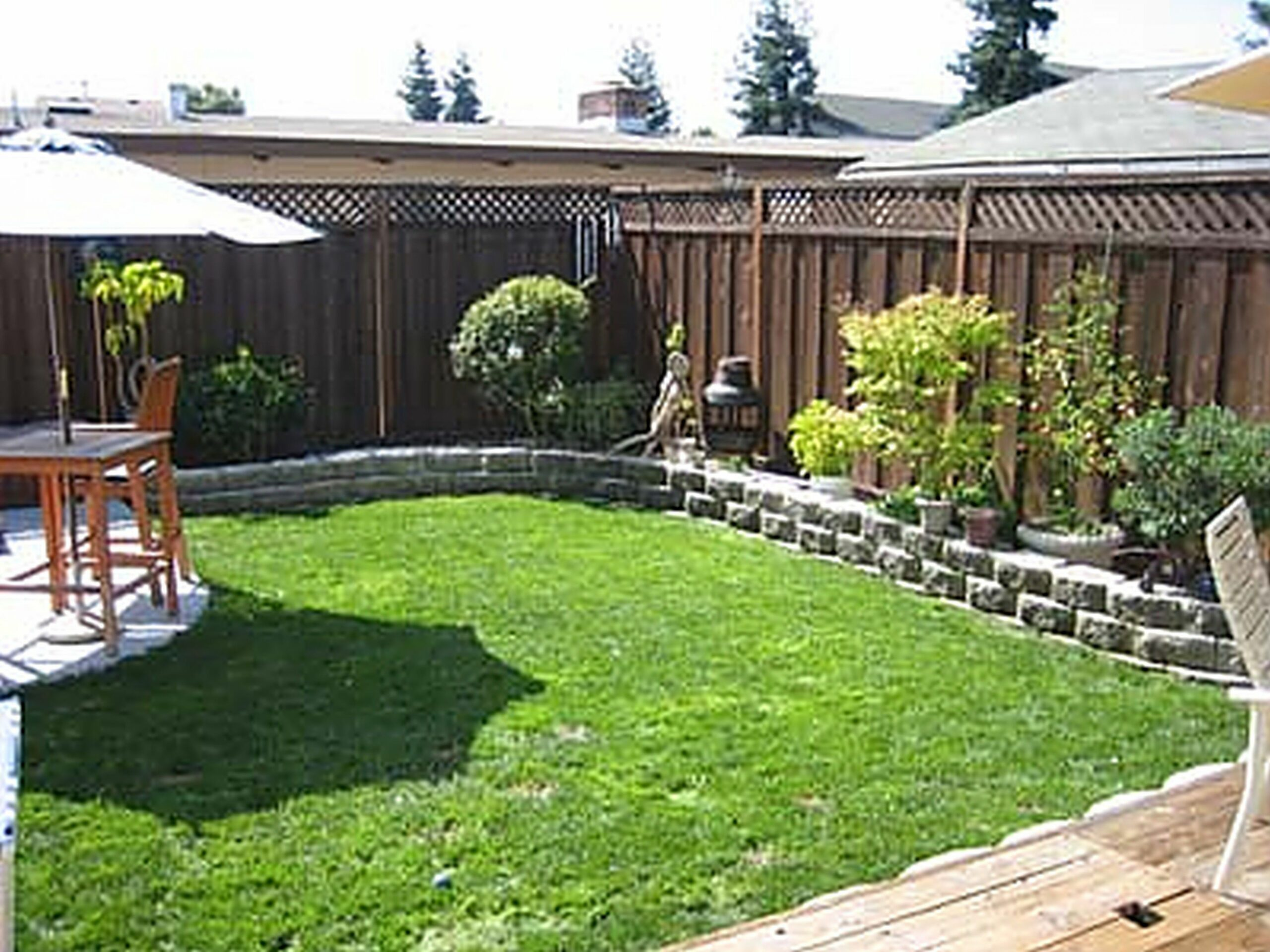 Yard Landscaping Ideas On A Budget Small Backyard Landscaping ...