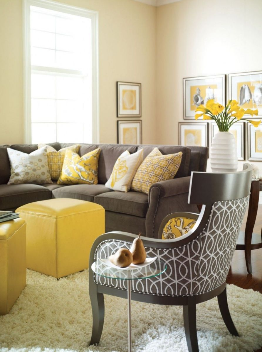 Yellow and Gray Rooms | Grey and yellow living room, Yellow living ...