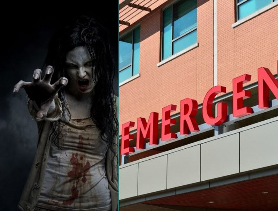 Zombie Shows Up at a Michigan Hospital: Panic Ensues - zombie makeup emergency room