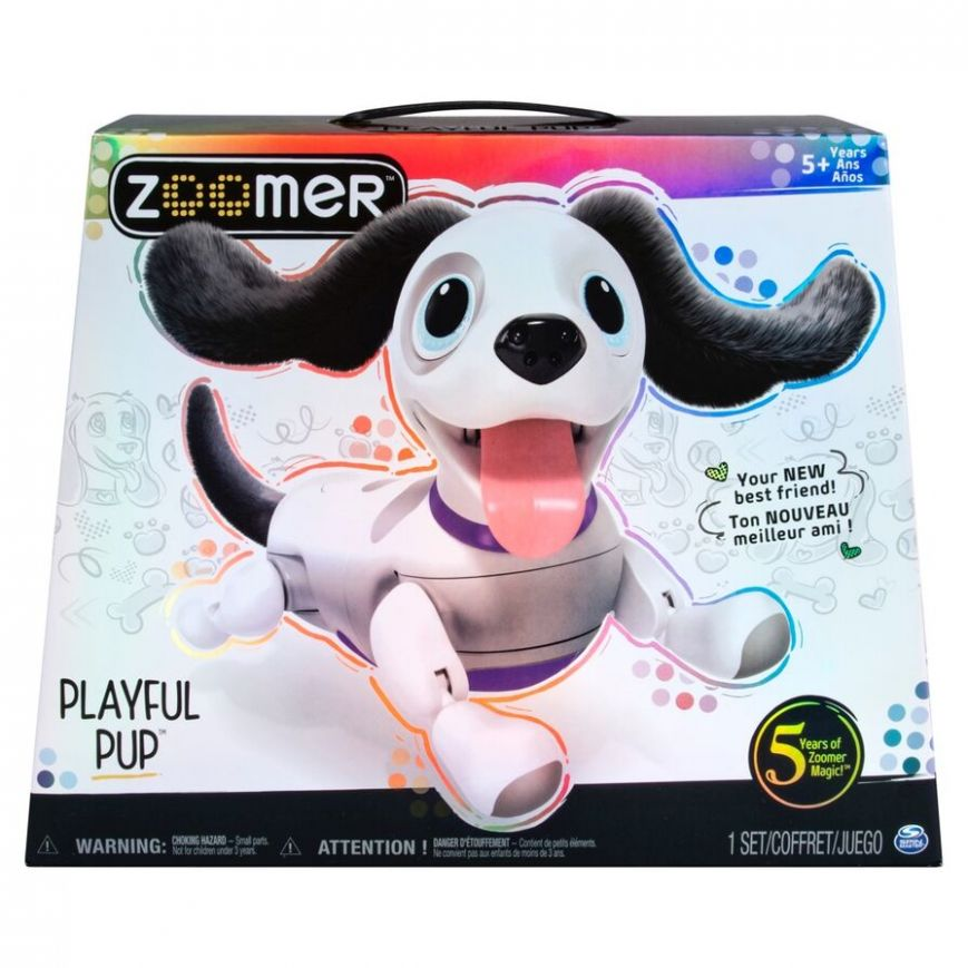 Zoomer Playful Pup Interactive Pet - home decor zoomer